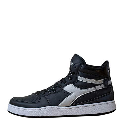 Diadora Playground High Wn, Sneaker Donna, (Nero/Argento C0787), 38.5 EU
