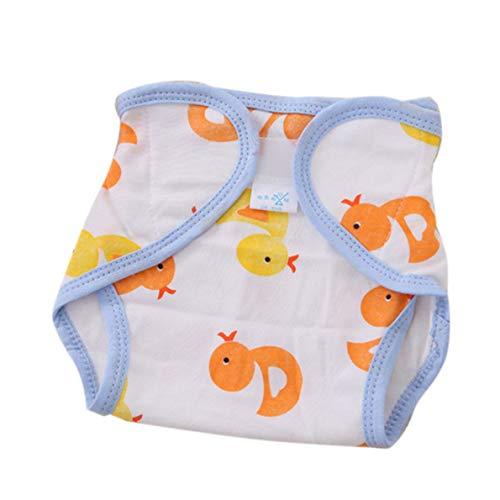 Wiederverwendbare Vollbaumwolle Neugeborenes Baby Naturwindeln Stoff Komfortabel 6 Schichten Waschbar Babypflegebedarf Weiß
