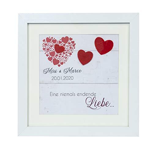 mamir home Liebesbeweis personalisiert im Herz Bilderrahmen I Geschenke für Frauen Männer Liebeserklärung I Lieblingsmensch, Geschenkideen für Sie & Ihn zum Geburtstag