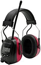 Protear Bluetooth Radio Headphones AM FM Noise Reduction Safety Earmuffs with Rechargeable 1200mAh Lithium Battery & Built-in Mic,NRR 25dB Ear Protector For Working