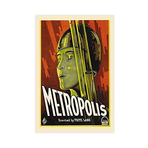 Póster clásico de Metrópolis de Metrópolis, película de Metrópolis, película antigua y mínima, para decoración de pared, impresión de cuadros de 30 x 45 cm