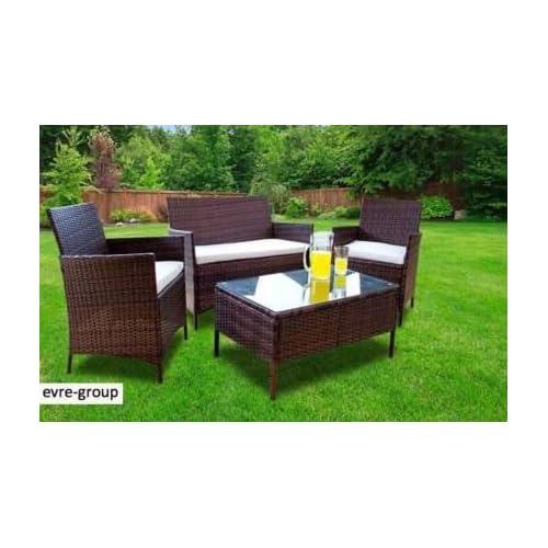 Peachy 4 Piece Rattan Furniture Set Amazon Co Uk Home Interior And Landscaping Ferensignezvosmurscom