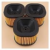 3 unids/lote Limpiador de filtros de aire para For Husqvarna 372 XP, piezas de repuesto de motosierra tipo de servicio pesado 372XP # 503 81 80-01 (Color : SPAIN)