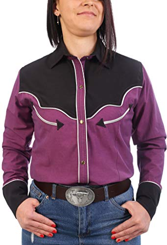 Last Rebels Country - Camisa para mujer, color fucsia fucsia Small