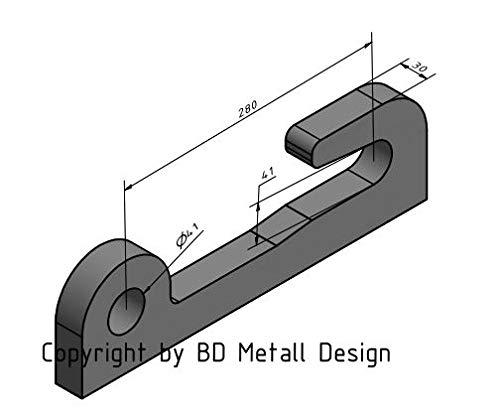 Koppelhaken Satz für Kramer 280x40x40mm NEU