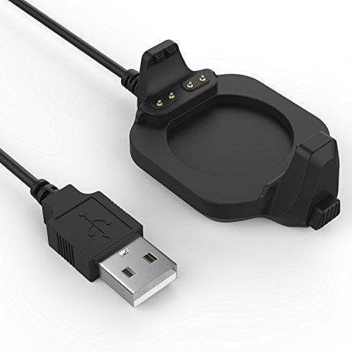 MoKo Cargador para Garmin Forerunner 920XT Charger Dock, Cargador de Reloj Inteligente con 1m Cable de USB de Carga y Sincronización de Datos, para Garmin Forerunner 920XT Smart Watch, Negro