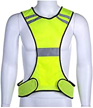 Reflective Vest for Running or Cycling Reflector Jackets with Pockets | High Visibility Safety Clothing for Bike, Walking,...
