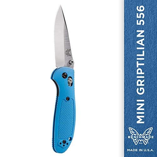 Benchmade Knife 556-BLU Mini Griptilian Satin Blade Blue Handle