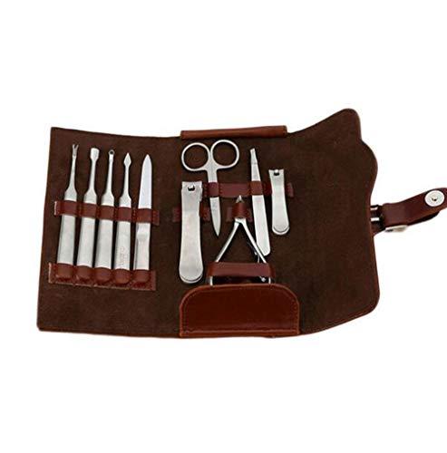 Neue 10 Stücke Edelstahl Nagelknipser Cutter Trimmer Ohr Pick Grooming Kit Maniküre Set Pediküre Nagel Werkzeuge Sets mit Fall