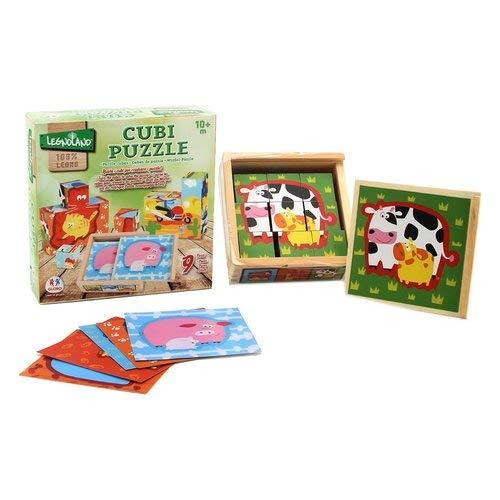 Globo 3784112.5x 12.5x 4.5cm Legnoland Giocattoli di Legno Puzzle Cube ( Pezzi)