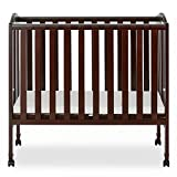 Dream On Me 2 in 1 Portable Folding Stationary Side Crib in...