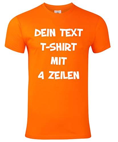 T-Shirt Bedrucken mit dem Amazon Tshirt Designer. T-Shirt selber gestalten. T-Shirt Druck. T-Shirt mit Wunschtext. T Shirts sind Ökotex-100 Zertifiziert. - Orange XXXL