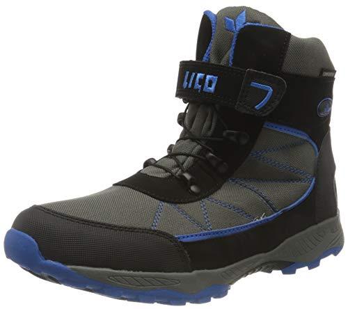 Lico Chłopięce buty zimowe Pelle Vs, Szary, szary, czarny, niebieski, 38 EU