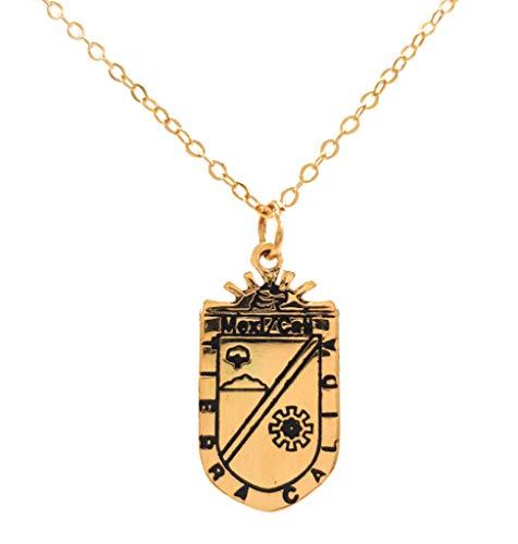 Collar Escudo de Mexicali – Chapa Oro 22k – Elegantia Jewelry