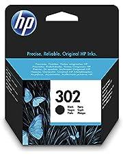 HP 302 F6U66AE Negro, Cartucho Original, de 190 páginas, para impresoras HP Deskjet serie 1110, 2100, 3600; HP ENVY 4500 y HP OfficeJet 3800, 4600, 5200