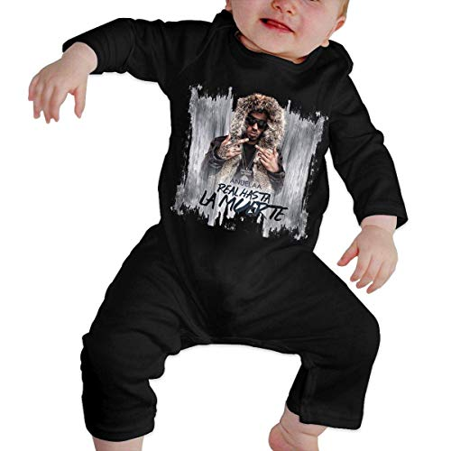 Henrnt Anuel-AA Mono para bebé niña Mono para bebé Mono de Manga Larga para bebé recién Nacido Negro