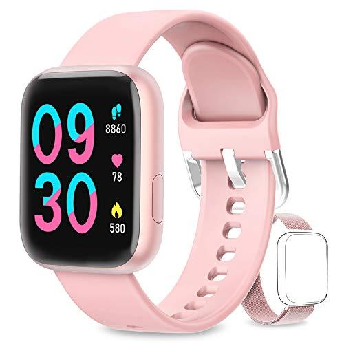 WWDOLL Smartwatch, Orologio Fitness Tracker Impermeabile da 1,4 pollici...