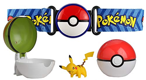 Bandai – Pokémon – Cinturón Poké Balón y Figura 5 cm Pikachu – 81243