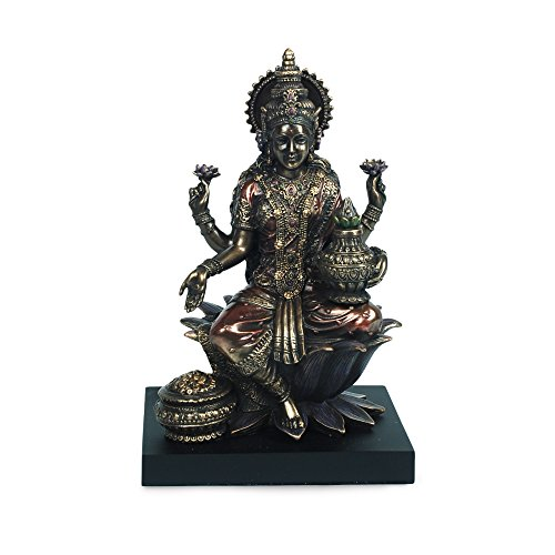 Art Deco Home - Figura Resina Budista Lakshmi 20 cm - 11625SG