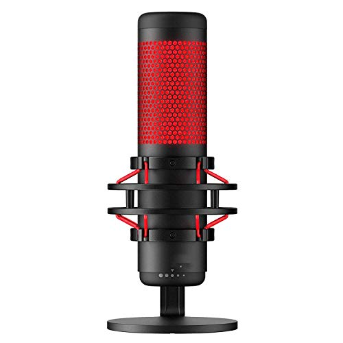 Podcast USB Stereo Microfoon, Omnidirectionele condensator PC Microfoon Met LED Licht Voor Vlog, Youtube, Studio, Stream Media, Voice Over, Vocal