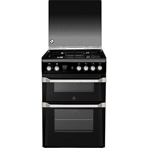 Indesit ID60G2K Cooker Freestanding Gas Double Oven 60cm Black