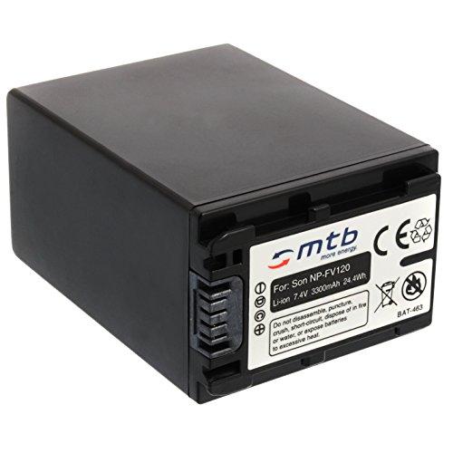Batteria NP-FV120 (3300mAh) – sostituisce NP-FV100A – per Sony DEV-30, 50V.. / HDR-CX740, CX900../ PJ410 PJ620.. / FDR-AX33... - v. lista! [Li-Ion - 7.2V - con Infochip]