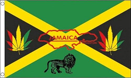 Flagge Jamaicas im Reggae-Stil, 150x 90cm, 100 % Polyester, Banner, ideal für Kneipen, Clubs, Schule, Festival, Büro, Party-Dekoration