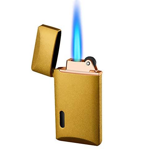 MALMESライター ターボ ガス 注入式ライター[マルメス]詰め替え式ブタントーチライター調整可能なブルーフレームライタージェットフレームライターシガレットライターキャンドルグリル多目的キャンプ(ブタンガスは含まれていません)[ゴールドサンド]