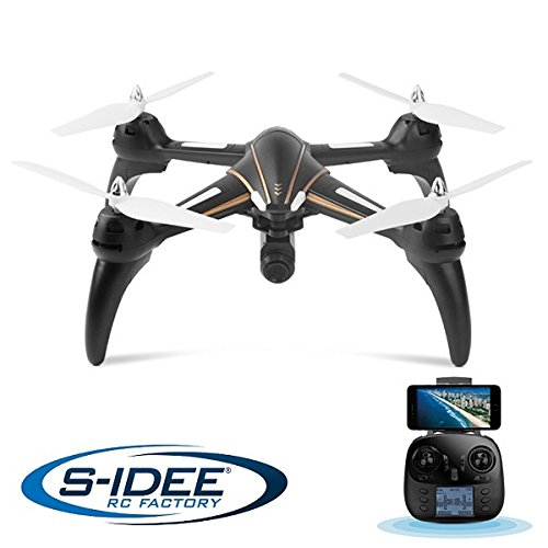 s-idee® 17106 S393 Wifi Drohne HD Kamera FPV Quadrocopter Höhenstabilisierung, One Key Return, Coming Home/Headless VR möglich, Drone 360°Flip Funktion,2.4 GHz mit Gyro,4-Kanal, 6-AXIS mit Camera 720p