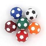COSDDI 6 Piezas 32/36mm Table Soccer Foosball Reemplazos Mini Mesa Pelotas de Fútbol
