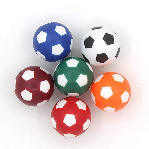 COSDDI 6 Pieces Table Football Soccer Balls 32/36 mm Table Football Mini Ball Coloured Table Football
