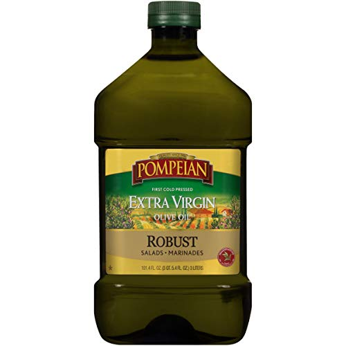 Pompeian Robust Extra Virgin Olive Oil, First Cold Pressed, Full-Bodied Flavor, Perfect for Salad Dressings & Marinades, 101 FL. OZ.