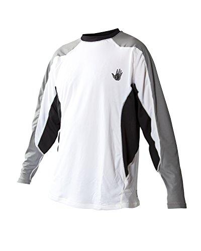 Body Glove Men's Performance Loose Fit Long Sleeve Shirt, White, Medium