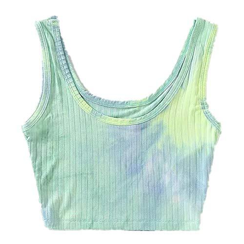 N\P Tie Dye - Tirantes con camiseta de chaleco de colores mixtos