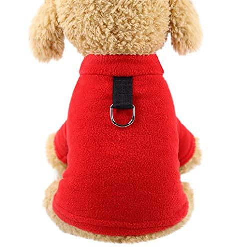 Herbst Winter Warm Haustier Hundekleidung Hundepullover Haustier Kleidung Sweatshirt Pullover Flanell Hundemantel Haustier Pure Jacke Für Kleine Katze Hund TWBB