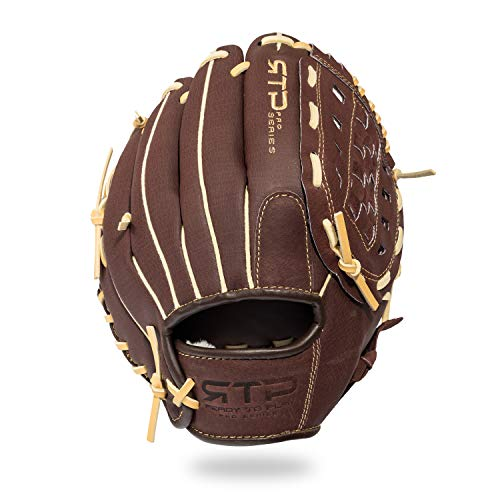 Franklin Sports Baseball Gloves - RTP Pro Baseball Fielding Glove - Infield, Outfield Glove - 10.0' Basket Web, Brown