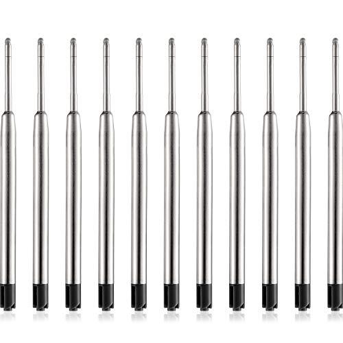 30 Packung Ersatz Kugelschreiber Refills Metall Nachfüllung Glatte Schreiben Kugelschreiber Nachfüllung (Schwarz)