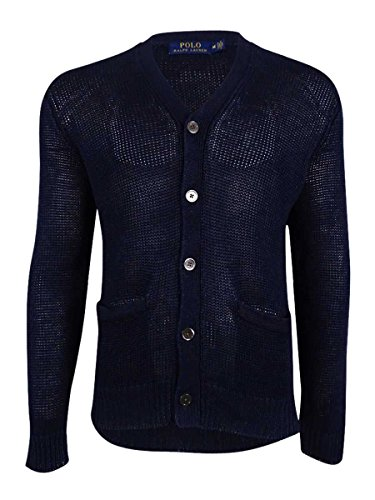 Polo Ralph Lauren Mens Knit Button-Down Cardigan Sweater Navy XL