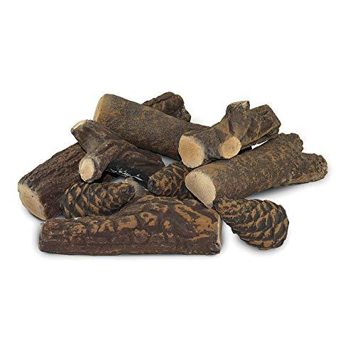 Set 9 Ciocchi Tronchetti Decorativi In Ceramica Per Camini A Bioetanolo Karlsen