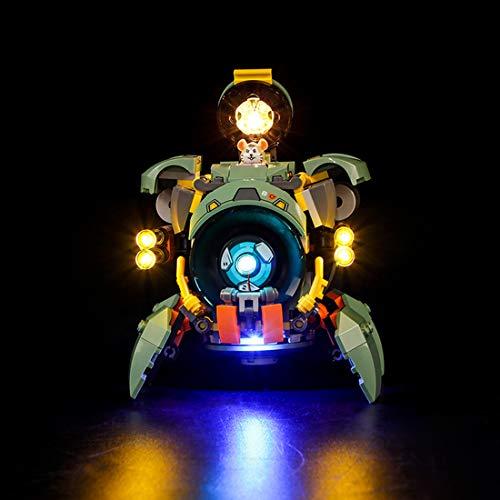 HYZM LED Beleuchtungsset Licht Set für LEGO Overwatch Wrecking Ball Modell, Beleuchtung Licht Set für Lego 75976 (Nur LED Licht, Ohne LEGO Kit)