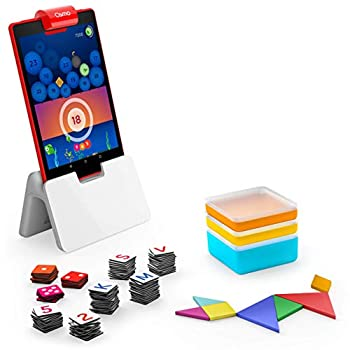 Osmo - Genius Starter Kit for Fire Tablet -Ages 6-10 - Math Spelling Creativity & More - STEM Toy  Osmo Fire Tablet Base Included  5 Educational Learning Games  Amazon Exclusive
