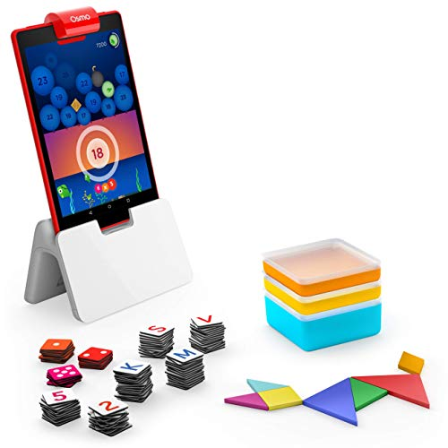 Osmo for Learning Games-Ages Genius Starter Kit 5 Giochi di apprendimento Hands-On-età 6-10-Problem Solving & Creativity-STEM-(Base Tablet Fire Inclusa-Esclusiva), Colore, 901-0008 901-00028