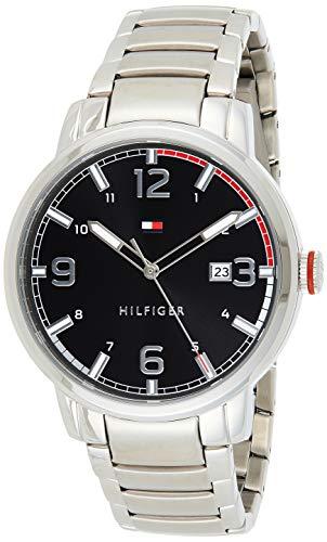 Tommy Hilfiger Reloj Analógico para Hombre de Cuarzo con Correa en Acero Inoxidable 01791755