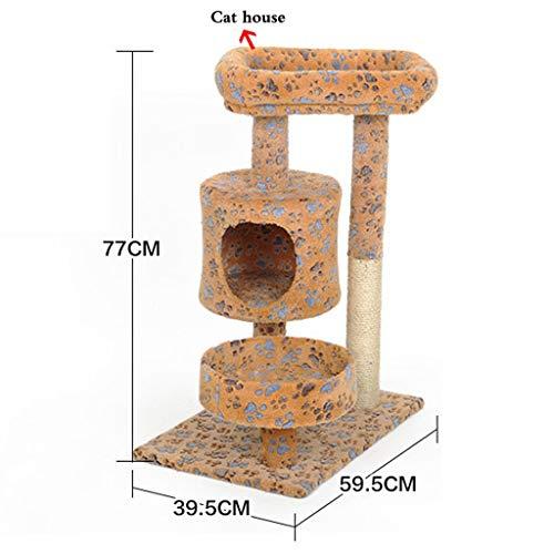 RFJJAL Cat Klettergerüst Kratzbaum Turm Kratzbaum Cat Nest Verkratzen Katze Regal Katze Loch Cat Turm Cat Scratch Board (Size : 39.5x59.5x77cm)