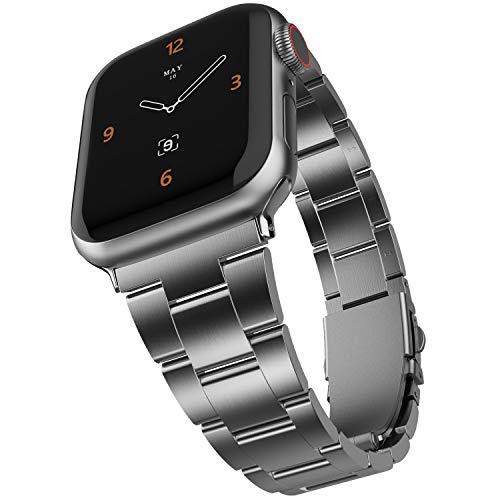 Adepoy para Apple Watch Correa, Mejorada sin Necesidad de Herramientas Pulsera de Repuesto de Acero Inoxidable Compatible con iwatch 38 mm 40 mm 42 mm 44 mm y Series 6/5/4/3/2/1