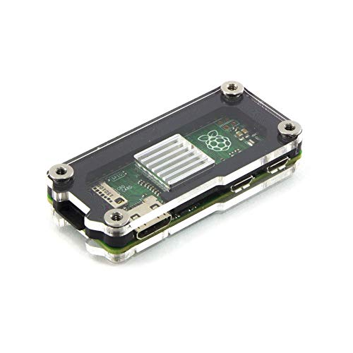 Zebra Zero Heatsink Case in Black Ice for Raspberry Pi Zero 1.3 & Wireless ~ C4Labs