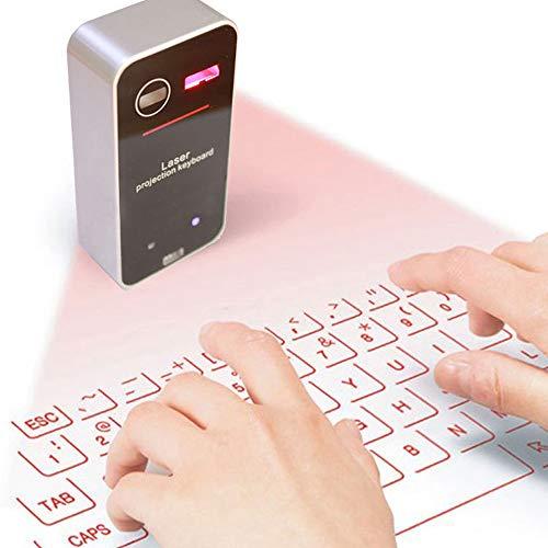 LIZONGFQ Bluetooth Laser Wireless Keyboard Virtuelle Projektion Tragbare Tastatur für iOS Android Smartphone iPad Tablet PC Notebook