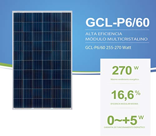 Módulo Solar Fotovoltaico GCL 270W POLI 60 CÉLULAS
