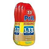 Pril Gold Gel Lavastoviglie Sciogligrasso Detersivo, 3 Confezioni da 33 Lavaggi