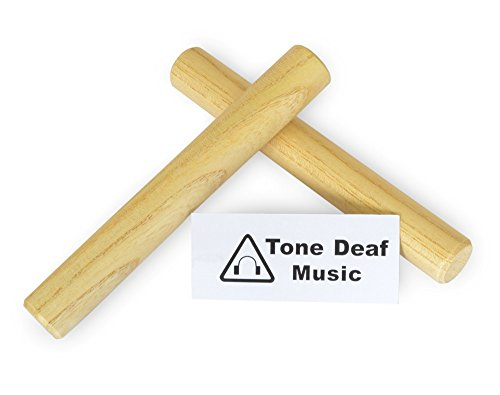 "Tone Deaf Music 7"" Hardwood maple Claves (2 per pack)"